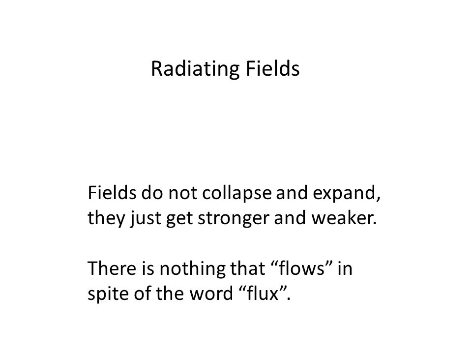 Fields do not collapse and expand, they just get stronger and weaker.