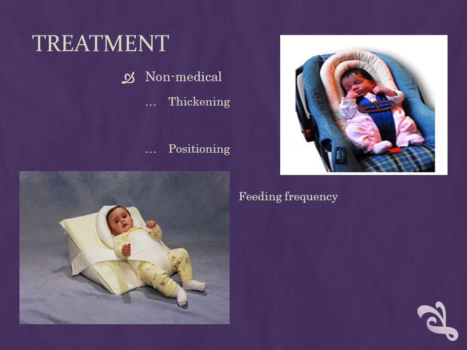 TREATMENT  Medication …Improves gastric motility  Metoclopramide  Erythromycin …Lowers gastric acid production  Ranitidine hydrochloride …Proton pump inhibitor  Omeprazole, lansoprazole