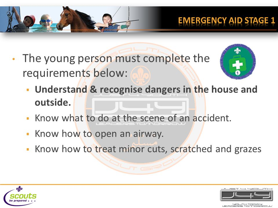 Understand & recognise dangers in the house and outside. Identify Stay out of trouble Prevent