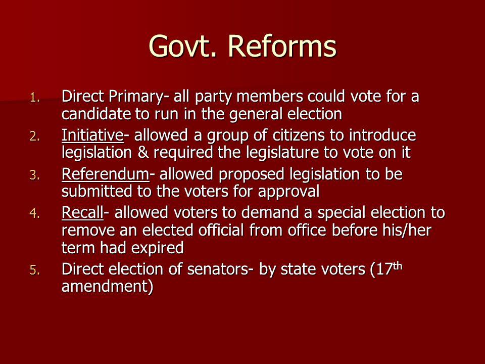 Govt. Reforms 1.