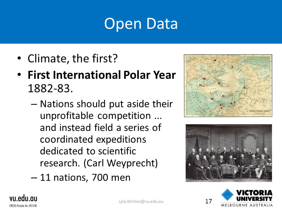 Open Data Climate, the first. First International Polar Year 1882-83.