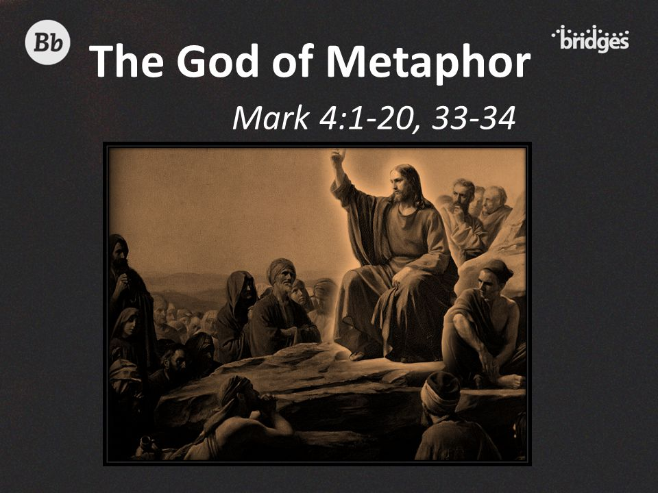 The God of Metaphor Mark 4:1-20, 33-34