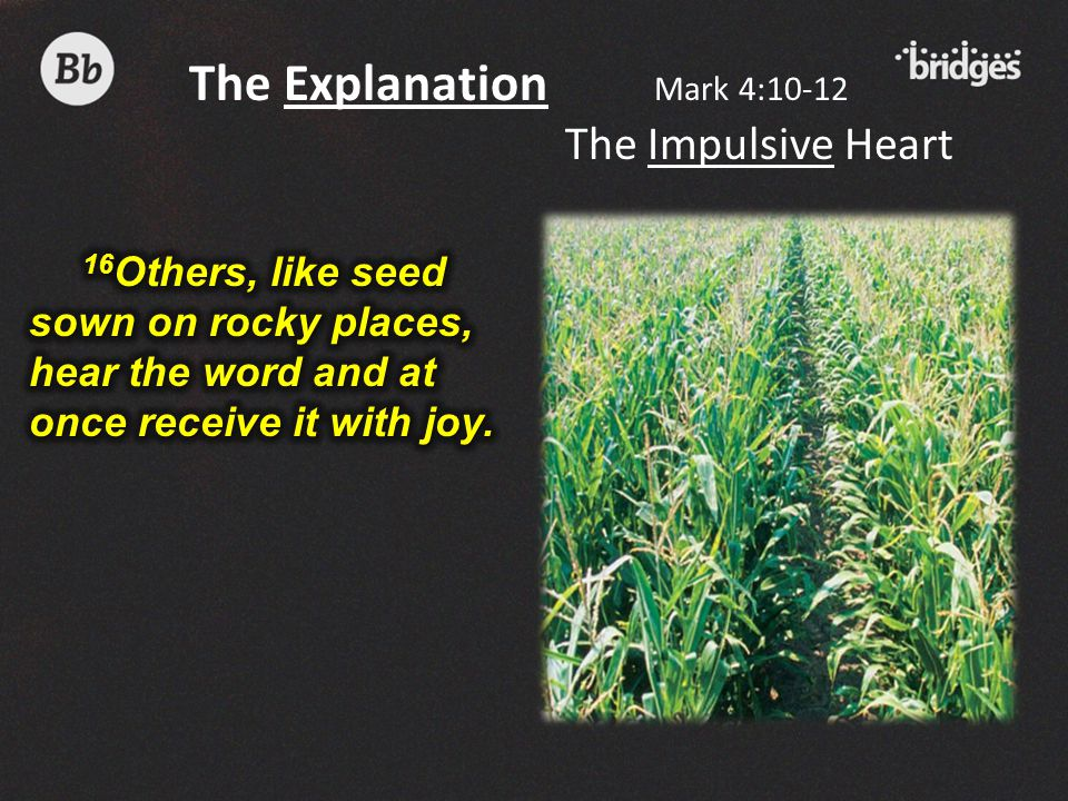 The Explanation Mark 4:10-12 The Impulsive Heart