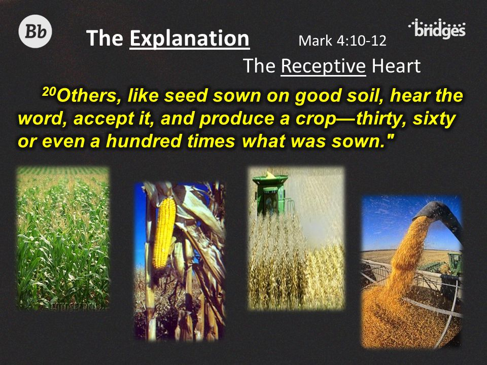 The Explanation Mark 4:10-12 The Receptive Heart