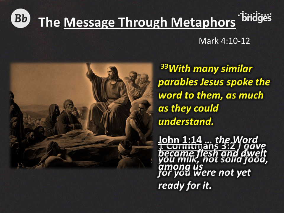 The Message Through Metaphors Mark 4:10-12