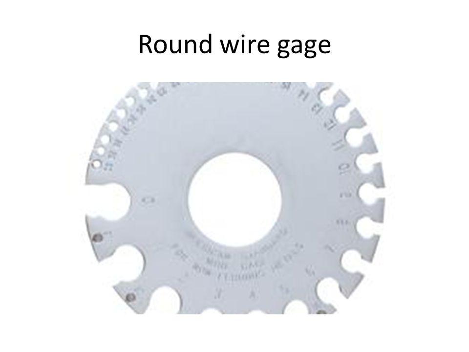 Round wire gage