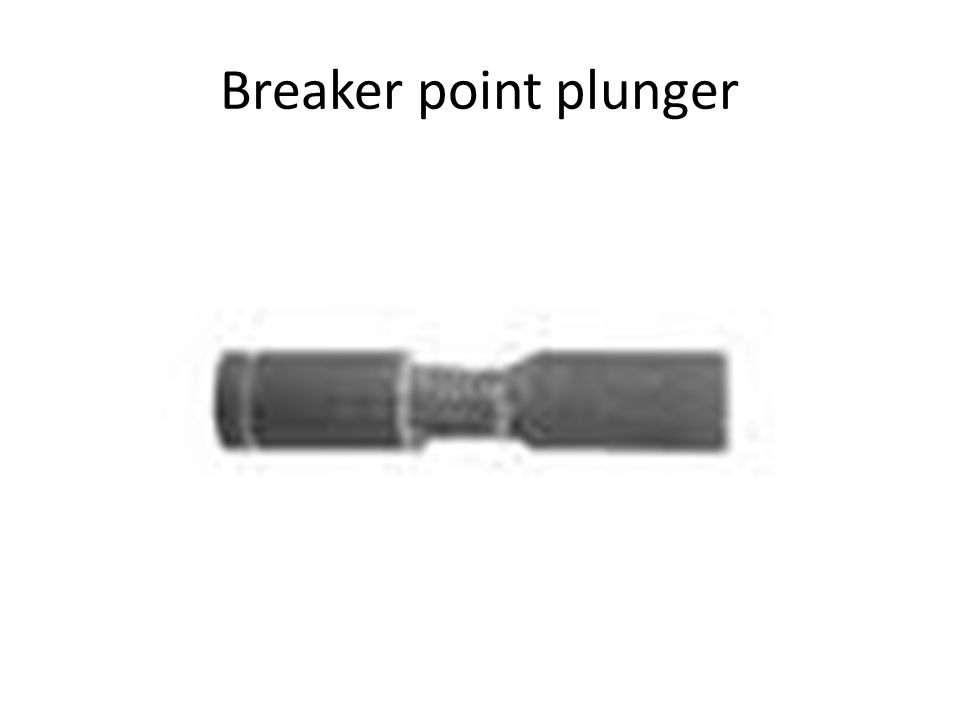 Breaker point plunger