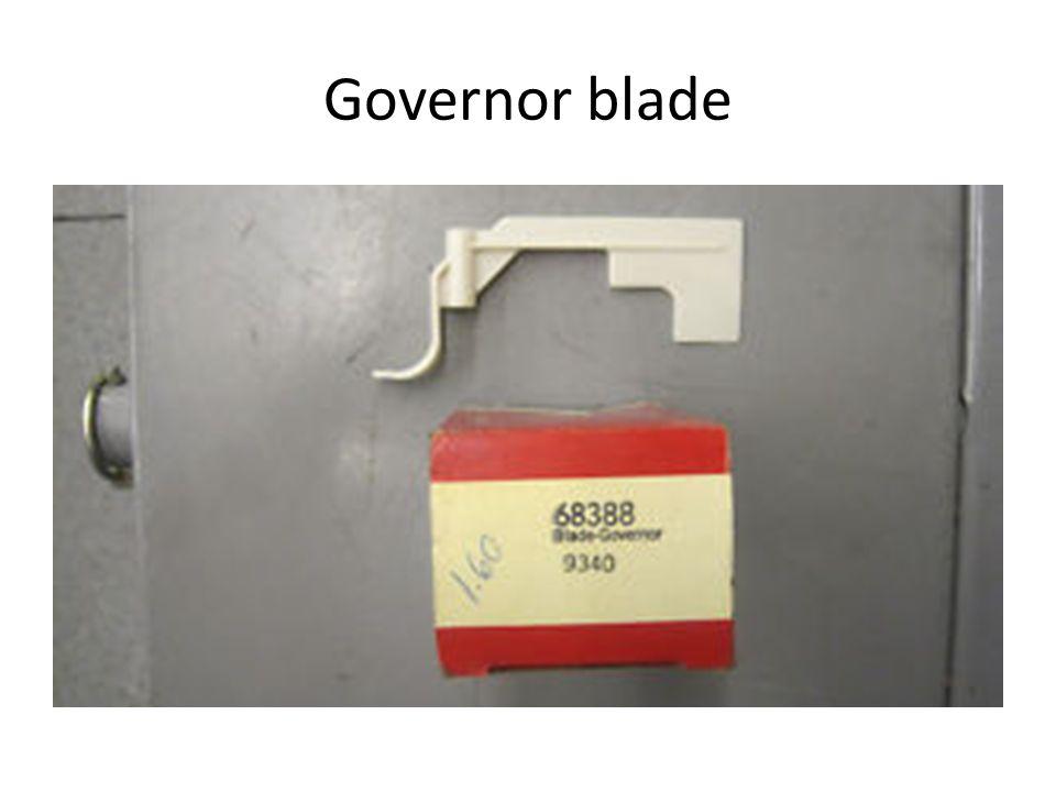 Governor blade