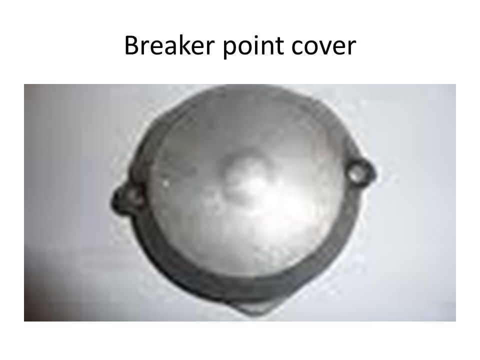 Breaker point cover