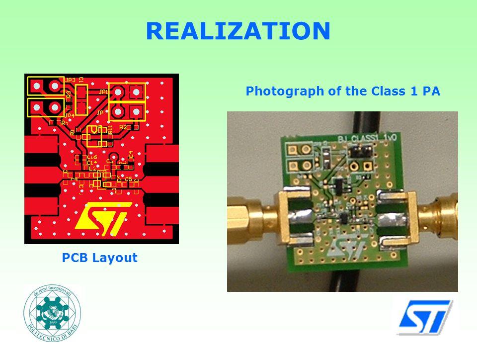 REALIZATION PCB Layout Photograph of the Class 1 PA