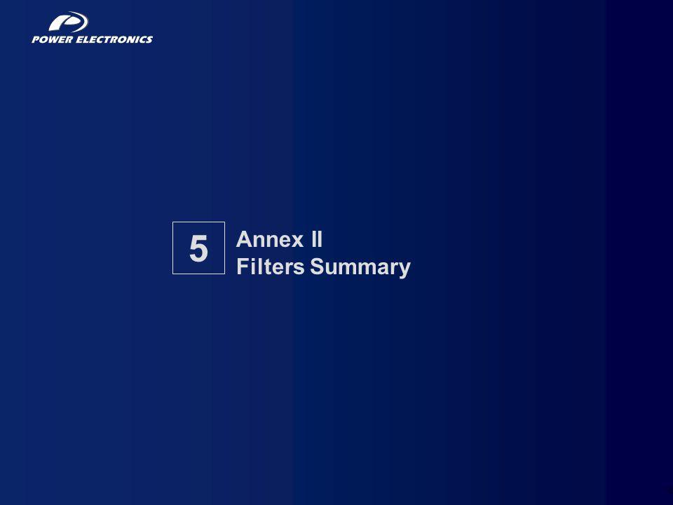 29 Annex II Filters Summary 5
