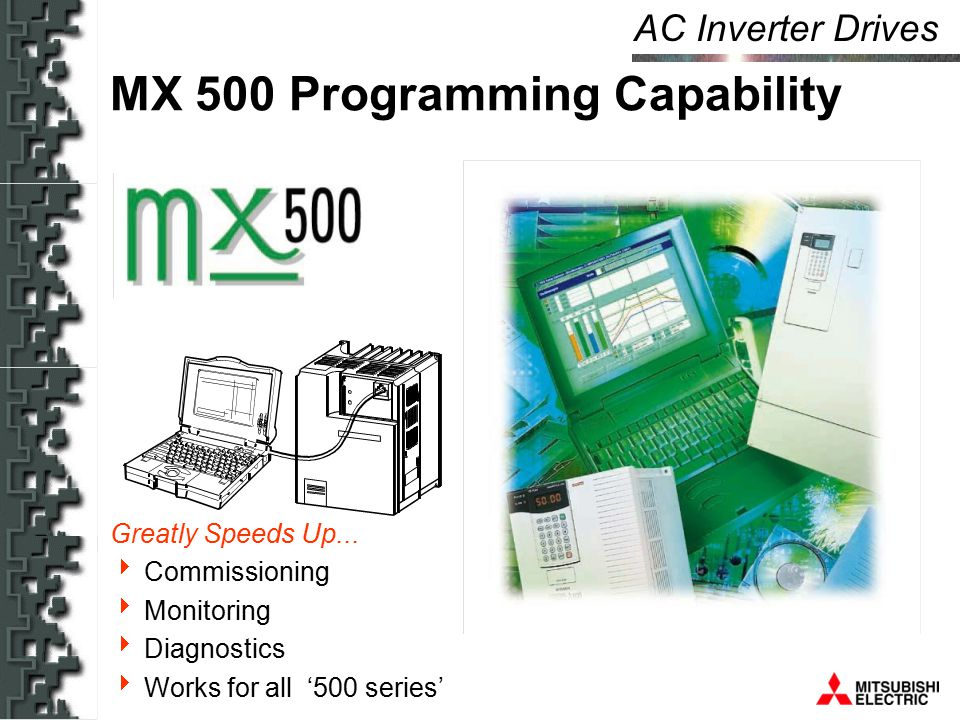 AC Inverter Drives MX 500 Programming Capability Greatly Speeds Up...