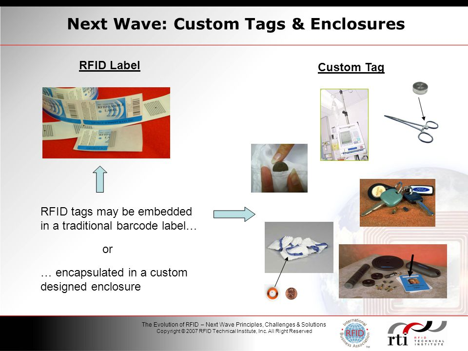 1 The Evolution of RFID – Next Wave Principles, Challenges & Solutions Copyright © 2007 RFID Technical Institute, Inc.