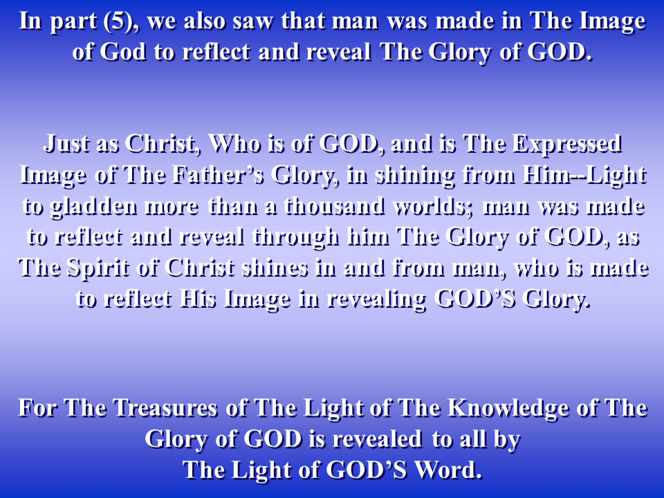 Notice that by obeying The Voice of GOD'S Angel--The Word of GOD, Who was leading them, as a body in The Way of GOD, they were to break down the images of the false gods, to live by The Image of The Only True GOD.