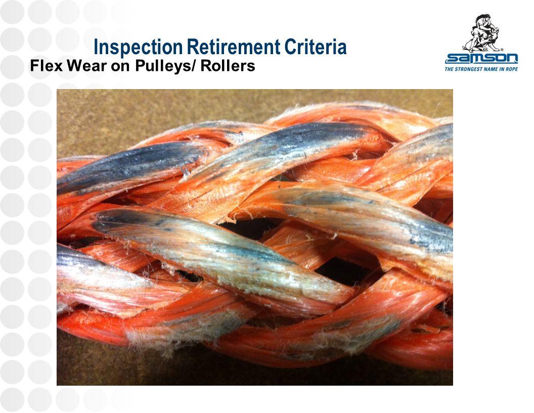 Inspection Retirement Criteria Flex Wear on Pulleys/ Rollers