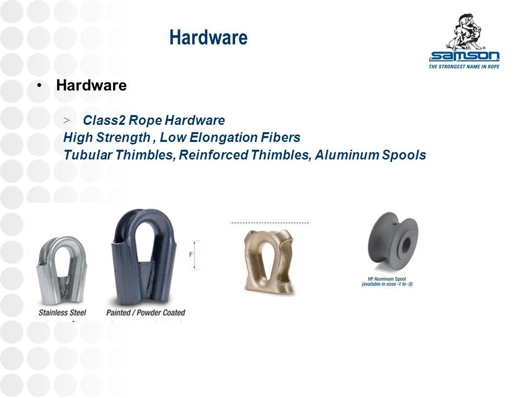 Hardware > Class2 Rope Hardware High Strength, Low Elongation Fibers Tubular Thimbles, Reinforced Thimbles, Aluminum Spools