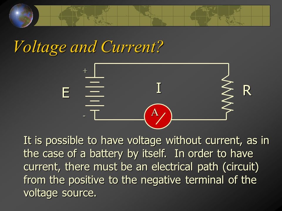 Voltage and Current.
