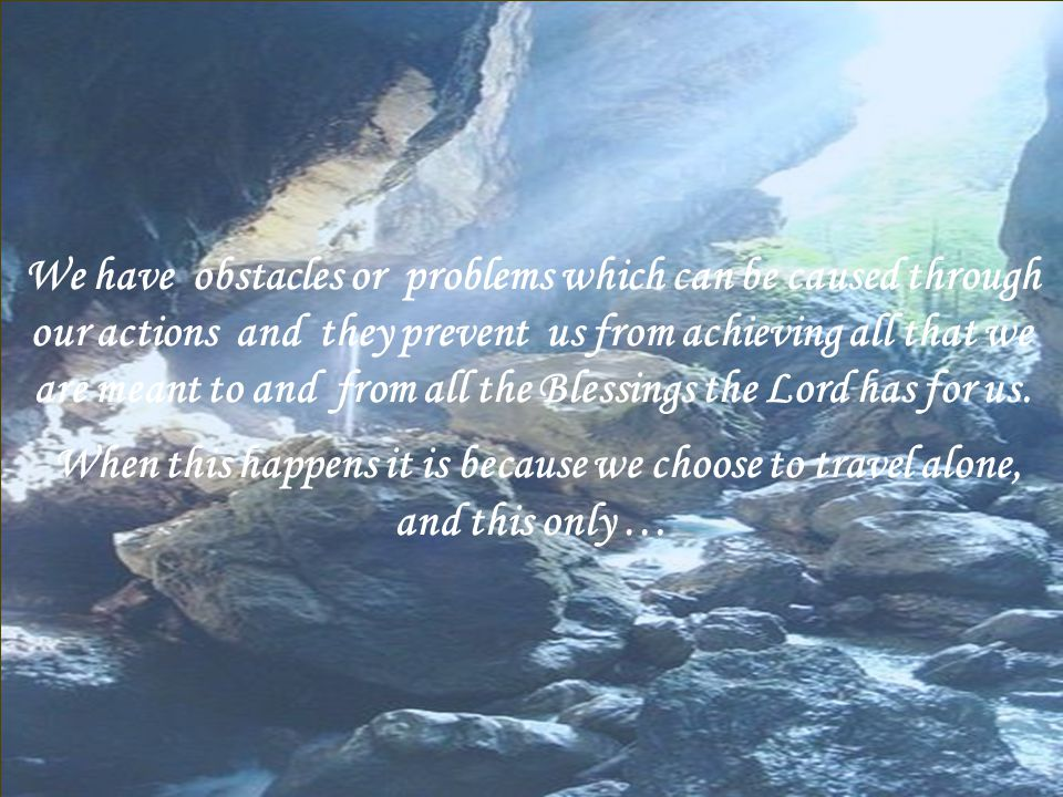 Our lives too can be likened to a flowing Spring or Stream clear and sparkling a reflection of our Creator or …