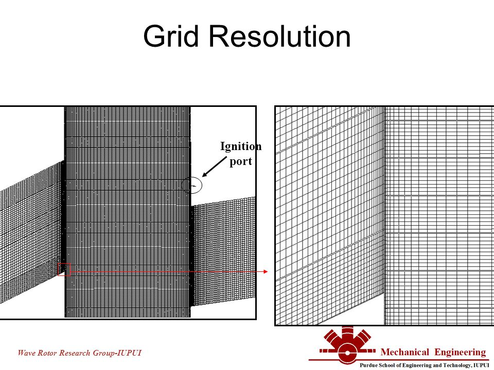 Wave Rotor Research Group-IUPUI Grid Resolution Ignition port