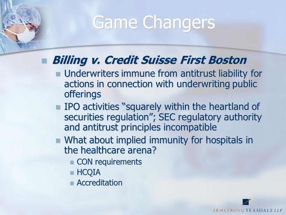 Game Changers Billing v. Credit Suisse First Boston Billing v.