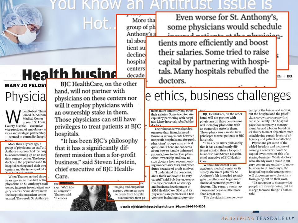 You Know an Antitrust Issue is Hot… When its in the Newspaper