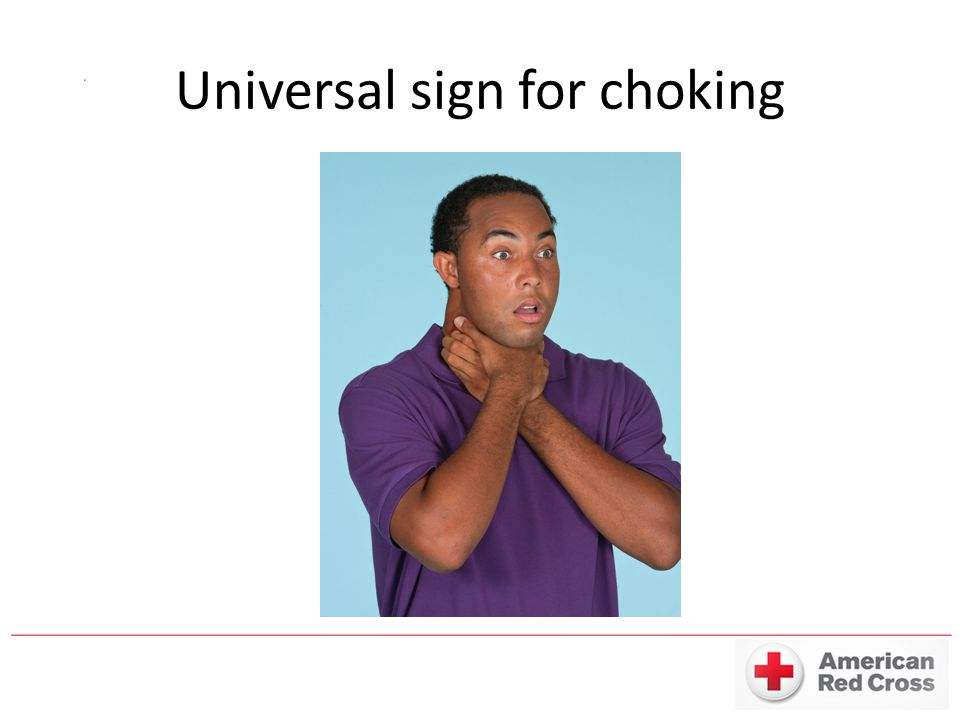 Universal sign for choking