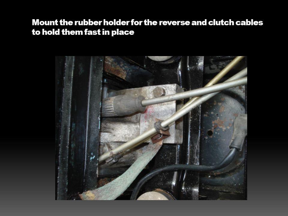 Rear motor mount bracket installed – keeps vibration to a minimum