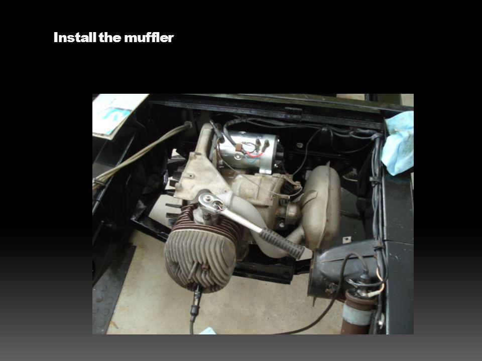 Install the muffler