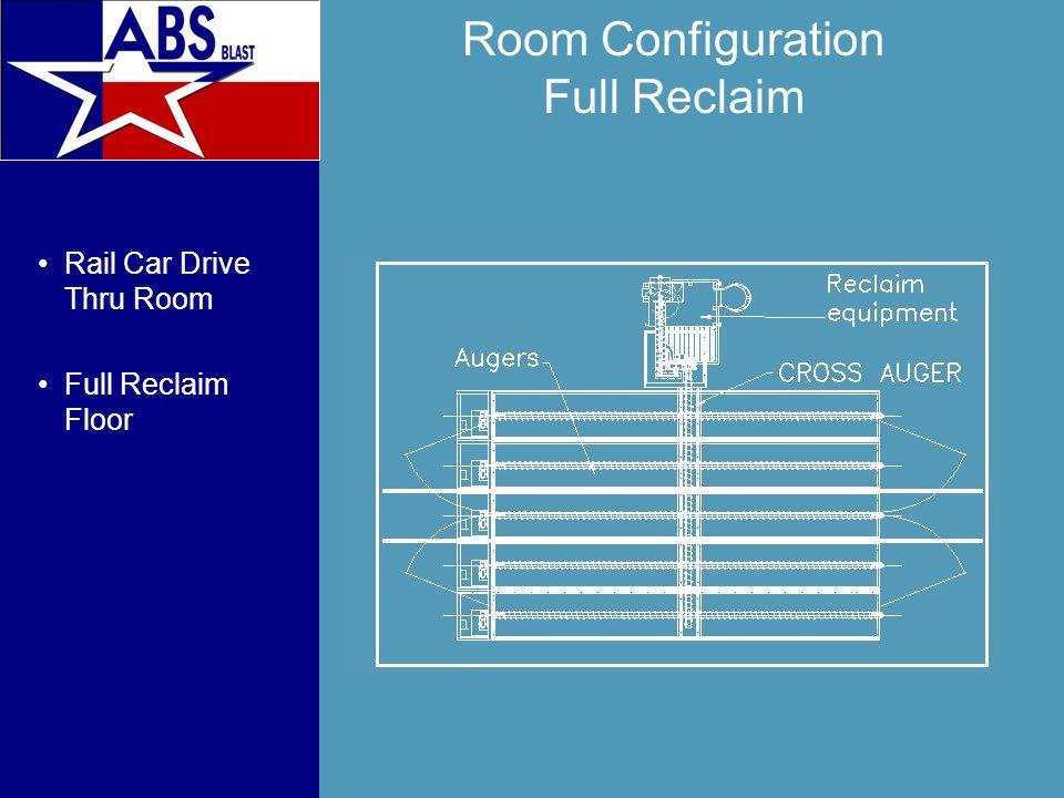 Room Configuration Full Reclaim Rail Car Drive Thru Room Full Reclaim Floor