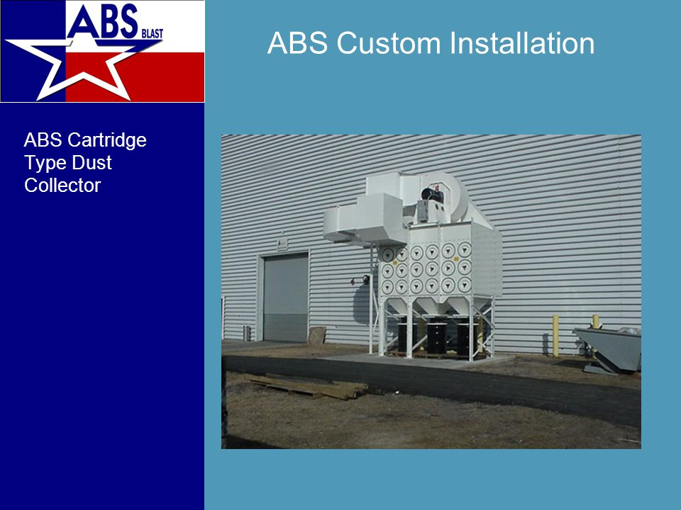 ABS Custom Installation ABS Cartridge Type Dust Collector