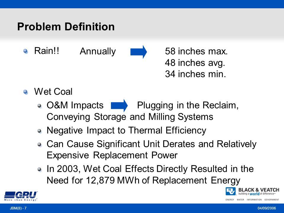 04/09/2006JBM(8) - 7 Problem Definition Rain!.