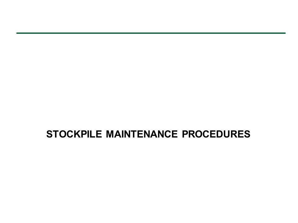 STOCKPILE MAINTENANCE PROCEDURES