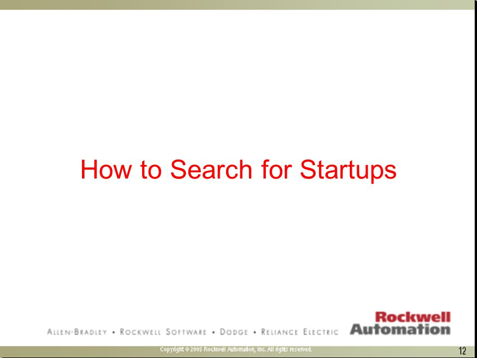 How to Search for Startups
