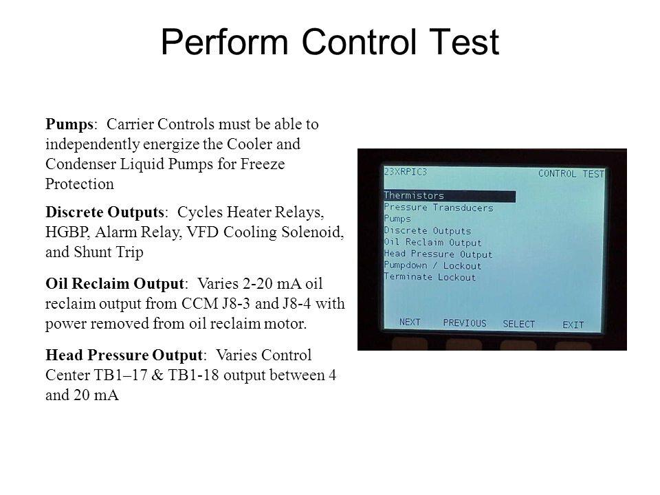 Start Chiller and Monitor Operation Oil Reclaim System Motor Cooling VFD Chiller Alerts