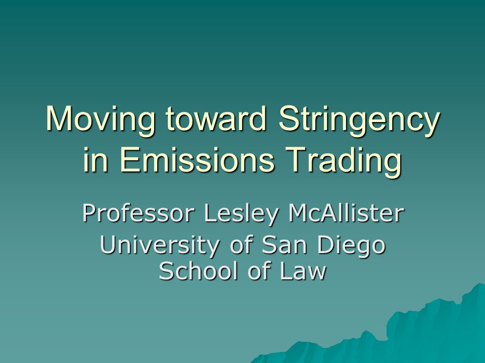 Roadmap  Emissions Trading (Cap & Trade) Basics  Slack in Program Caps  Empirical Evidence of Slack  Sources of Slack  Comments on the California Market Advisory Committee (MAC) Recommendations of June 2007.