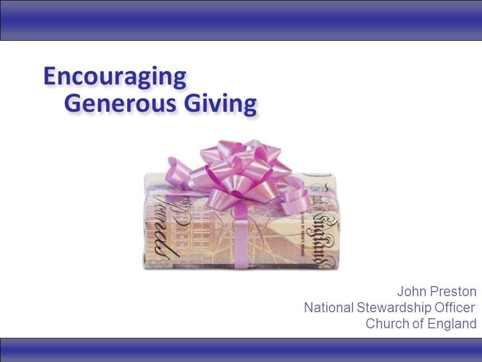 John Preston National Stewardship Officer Church of England