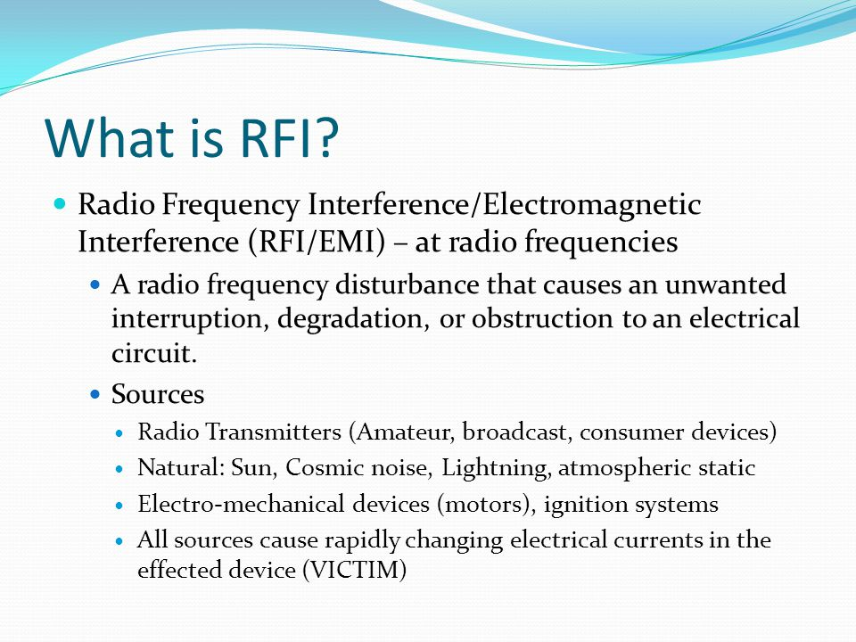 Got RFI in your shack/home.