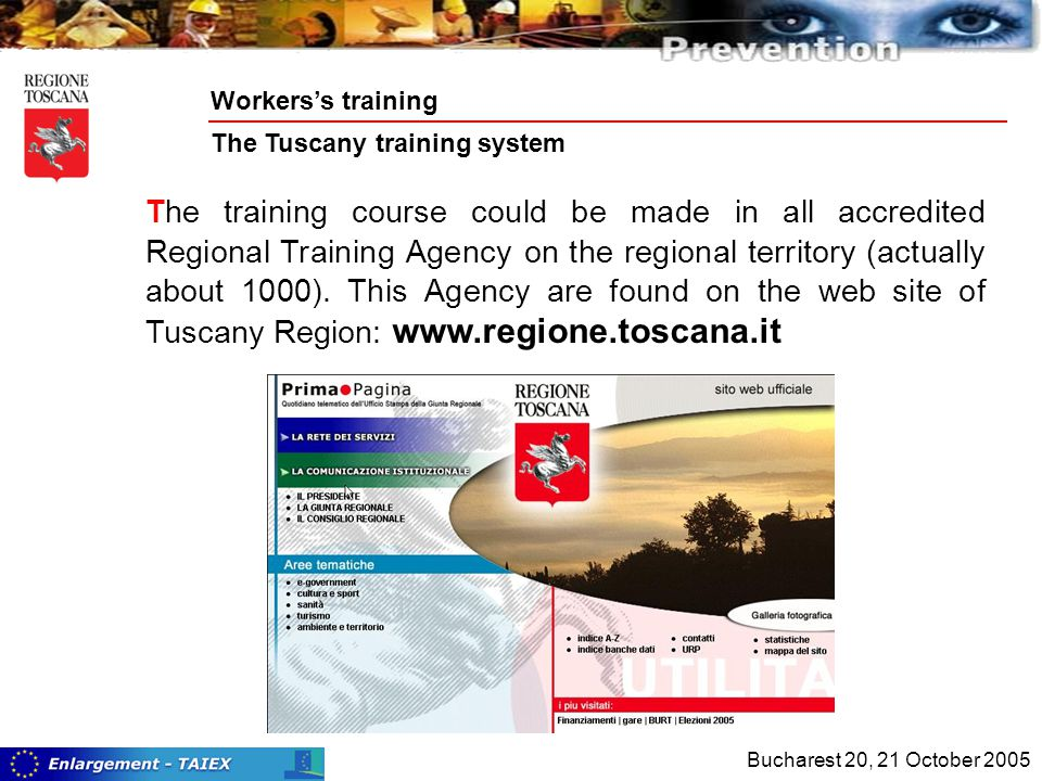 The training course could be made in all accredited Regional Training Agency on the regional territory (actually about 1000).