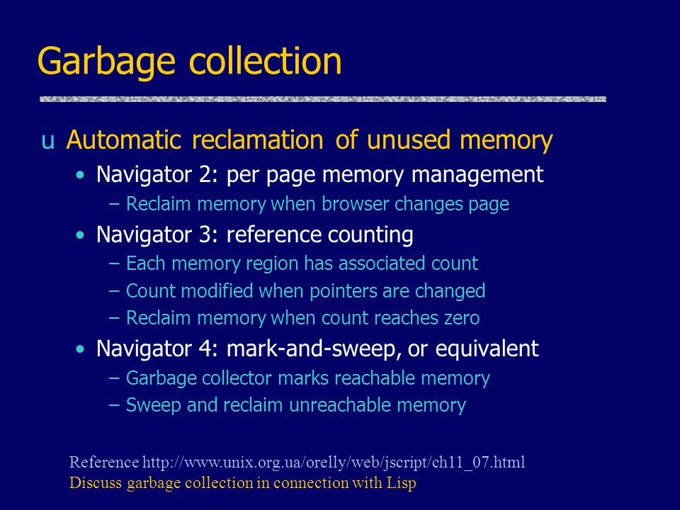 Language features in CS242 uStack memory management Parameters, local variables in activation records uGarbage collection Automatic reclamation of inaccessible memory uClosures Function together with environment (global variables) uExceptions Jump to previously declared location, passing values uObject features Dynamic lookup, Encapsulation, Subtyping, Inheritance uConcurrency Do more than one task at a time (JavaScript is single-threaded)