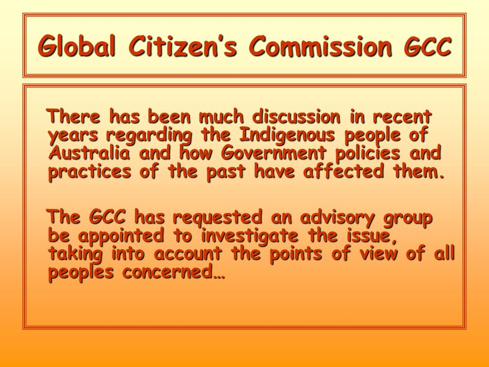 Global Citizenship Forum Social Justice… All Points.