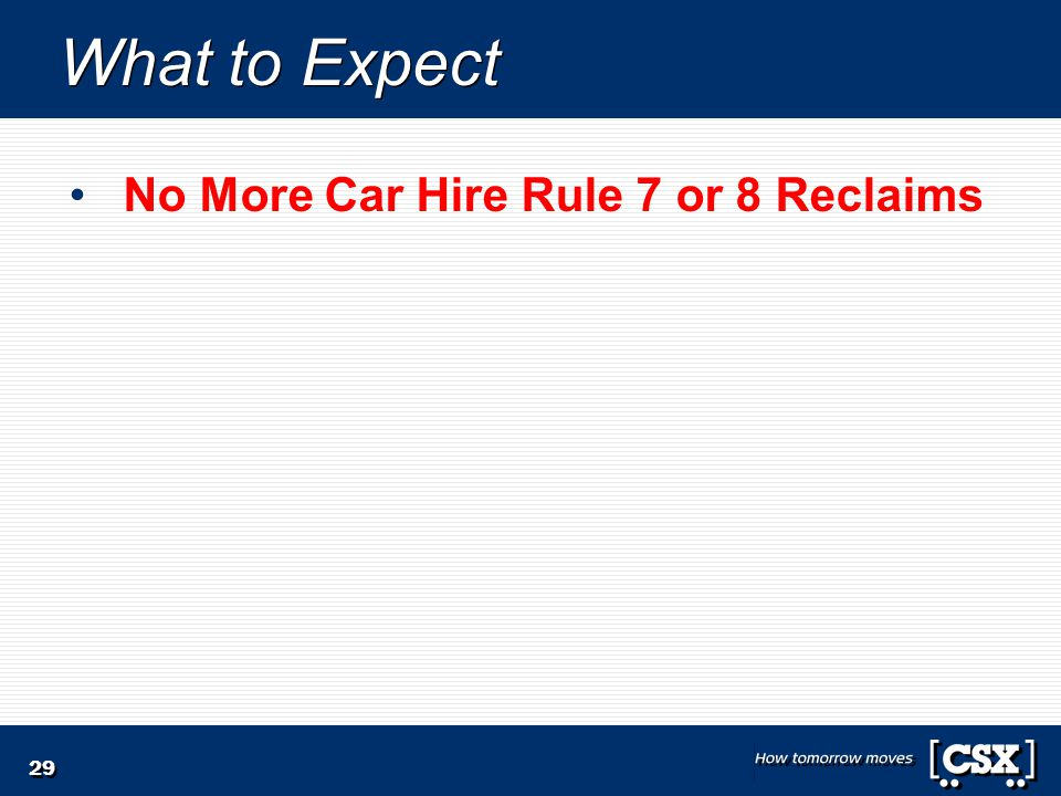 29 What to Expect No More Car Hire Rule 7 or 8 Reclaims
