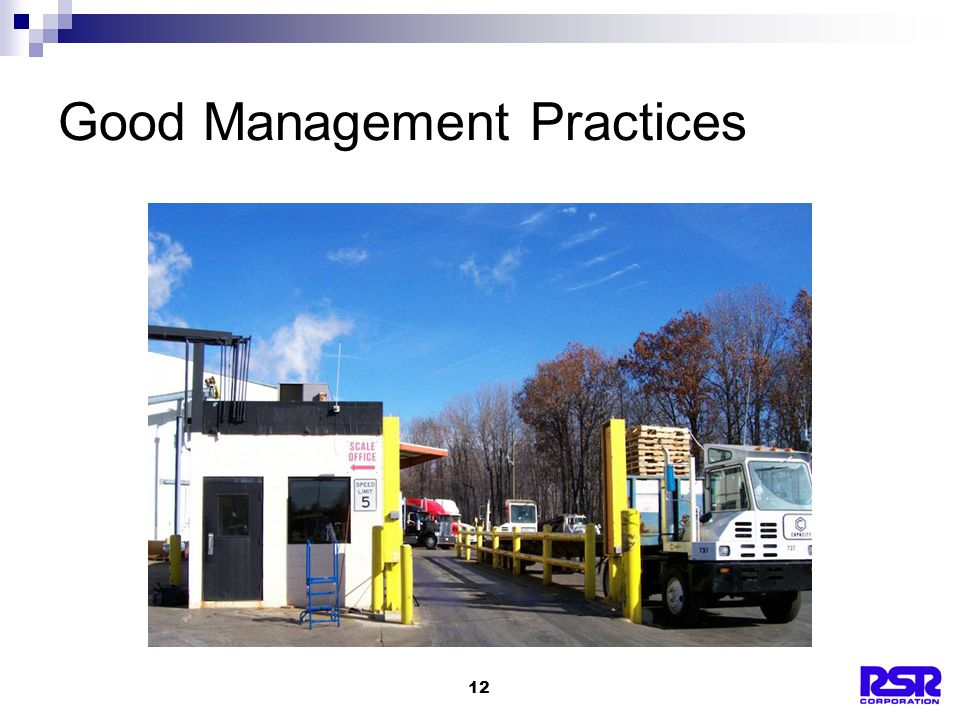 12 Good Management Practices
