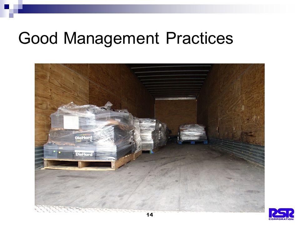 14 Good Management Practices