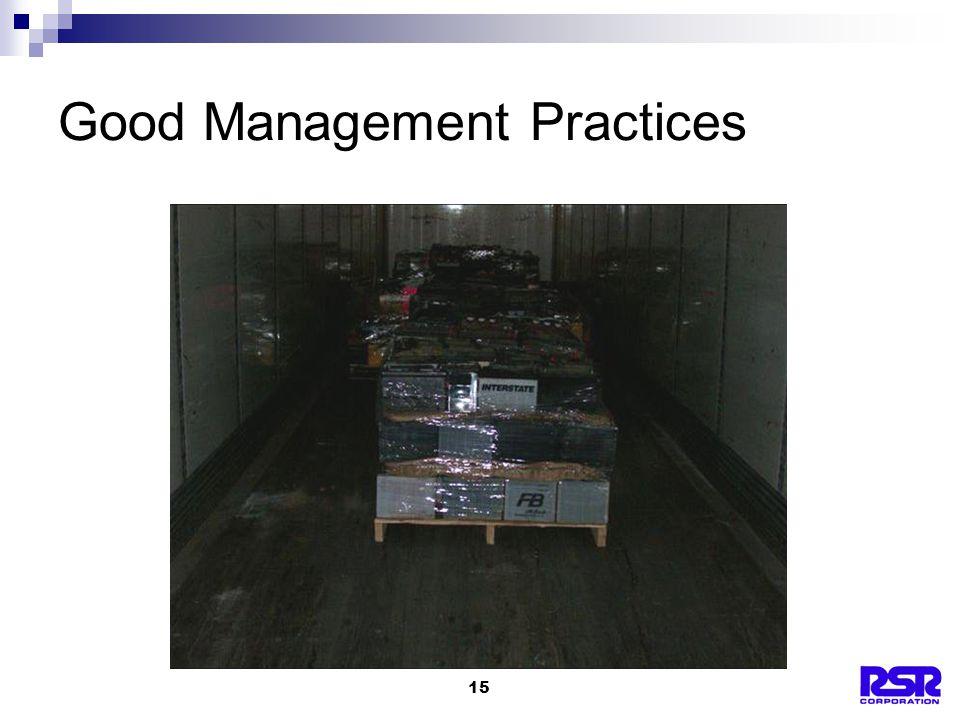 15 Good Management Practices