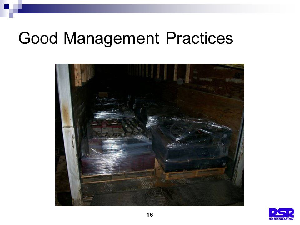 16 Good Management Practices