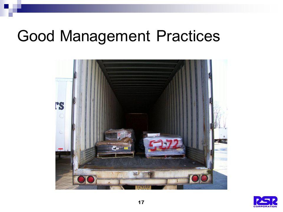 17 Good Management Practices