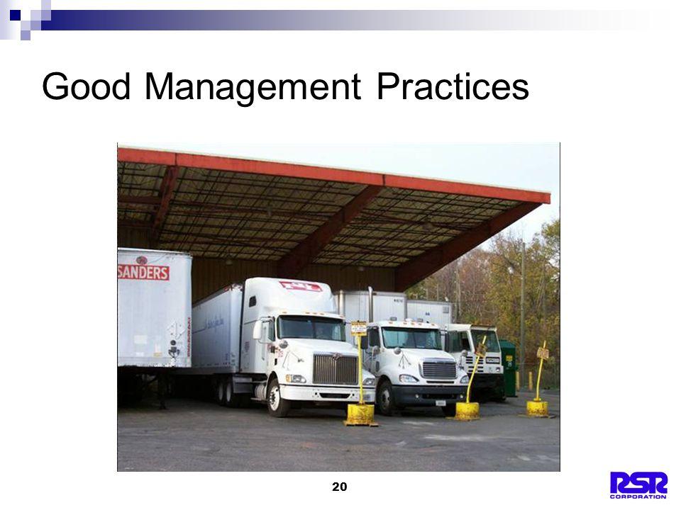 20 Good Management Practices