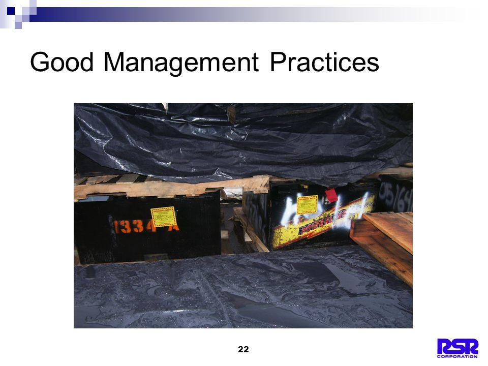 22 Good Management Practices