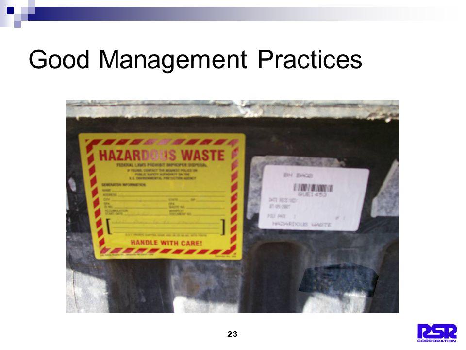 23 Good Management Practices