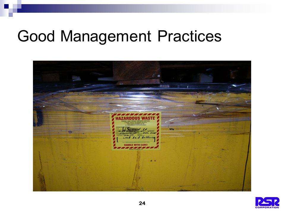 24 Good Management Practices